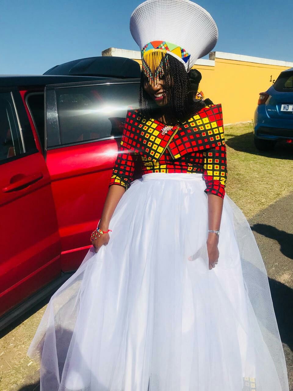 J ones african print wedding dress african traditional