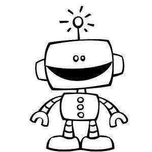 Dibujo De Robot Murales Robots Dibujo Dibujos Para Colorear Y