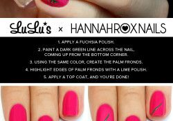 Fuchsia Tropical Nail Tutorial