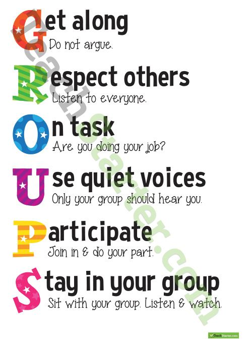 Groups teamwork acrostic poster Teaching Resource – Teamwork Worksheets