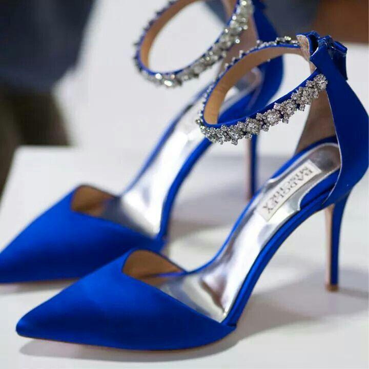 Dark Blue Badgeley Mischka Pumps Wedding Ideas