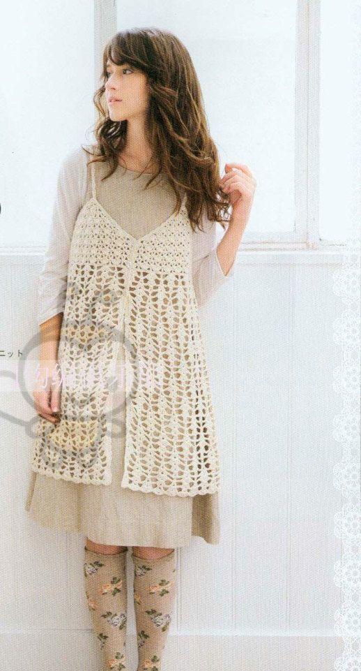 Japanese Crochet Lace Tunic Dress Pattern Japanese By Dotsstripes
