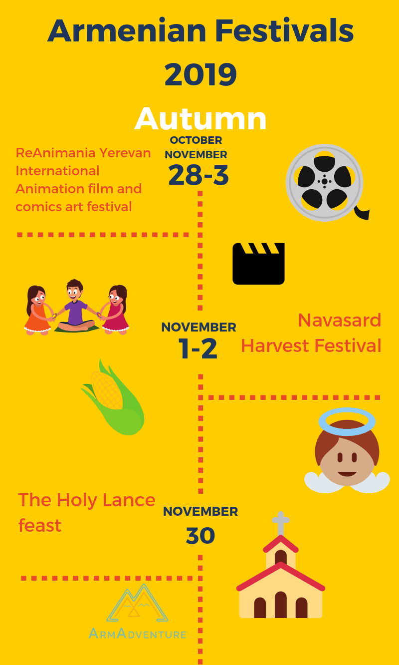 Armenian Festivals 2019 [infographic] autumn part 3 | Armenian