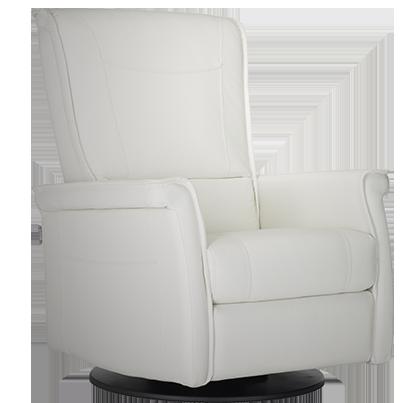Swivel base Integrated footrest Adjustable headrest