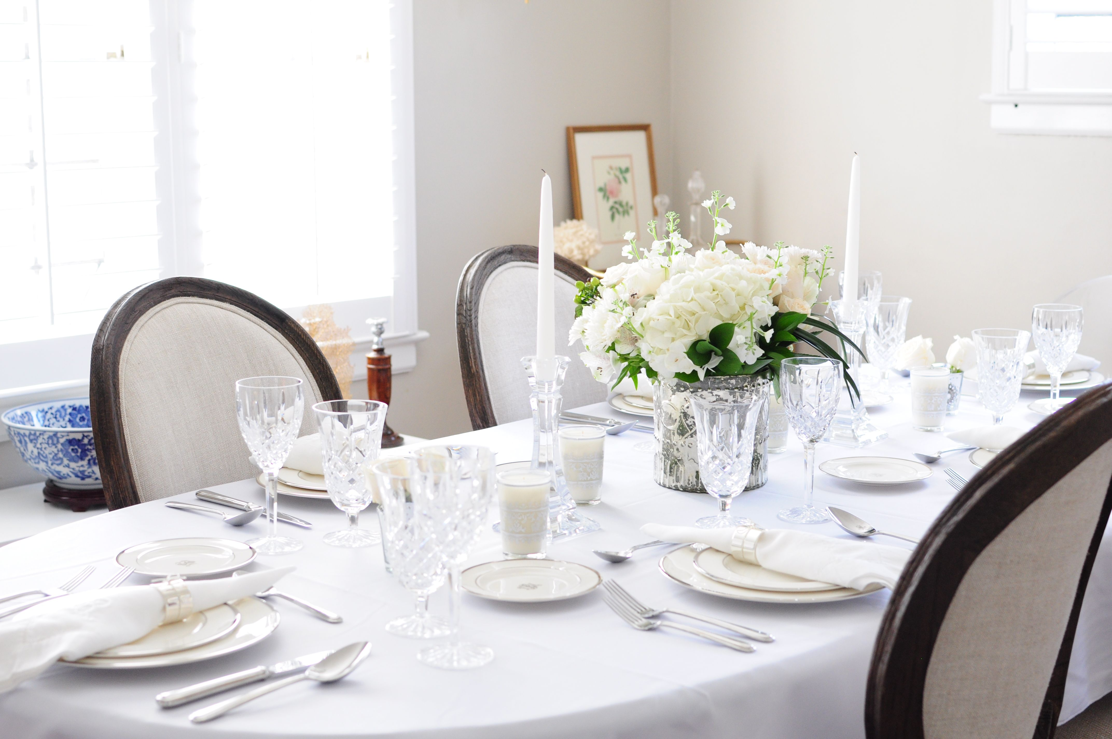 Elegant White Tablescape Styling U0026 Etiquette Tips U2014 Veronica Bradley  Interiors