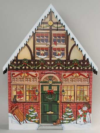 Your Favorite Brands Counting Down The Days Christmas House Calendar Boxed Wooden Advent Calendar Christmas House Advent House