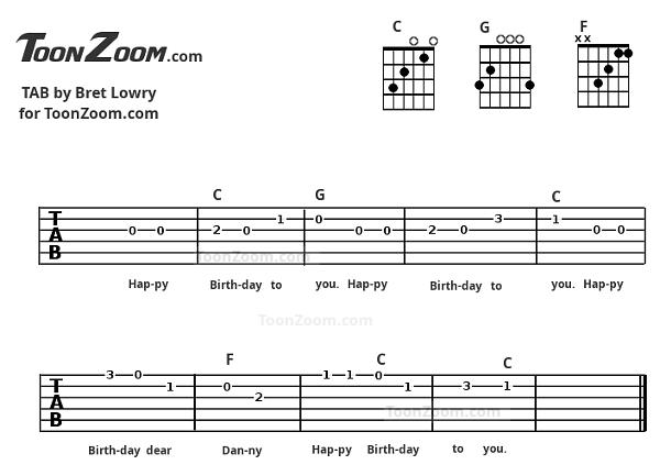 Happy Birthday Guitar Tab Made Using Toonzoom Animate Guitar Tab Maker Happy Birthday Guitar Guitar Tabs Guitar Tabs Songs
