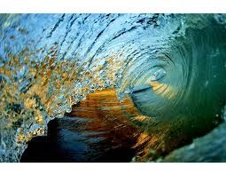 Wave, golds and blues