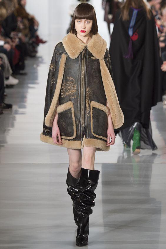 Shearling cape | coats | Pinterest | Coats, Fall winter and Winter