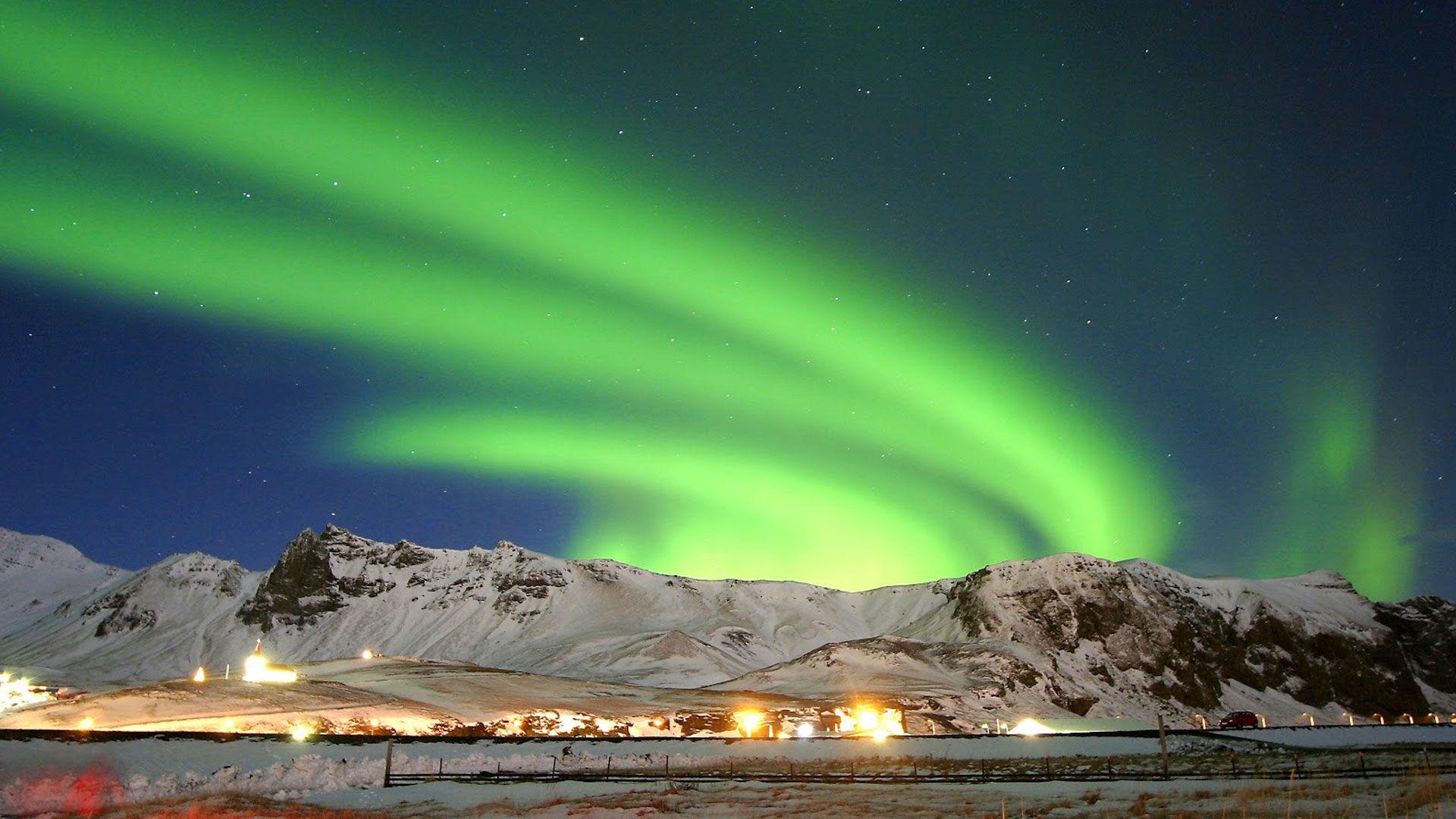 Iceland Northern Lights Wallpaper Hd