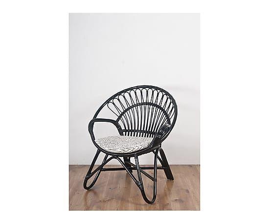 Fauteuil BULLE Rotin Et Coton Noir L Furniture Pinterest - Fauteuil bulle