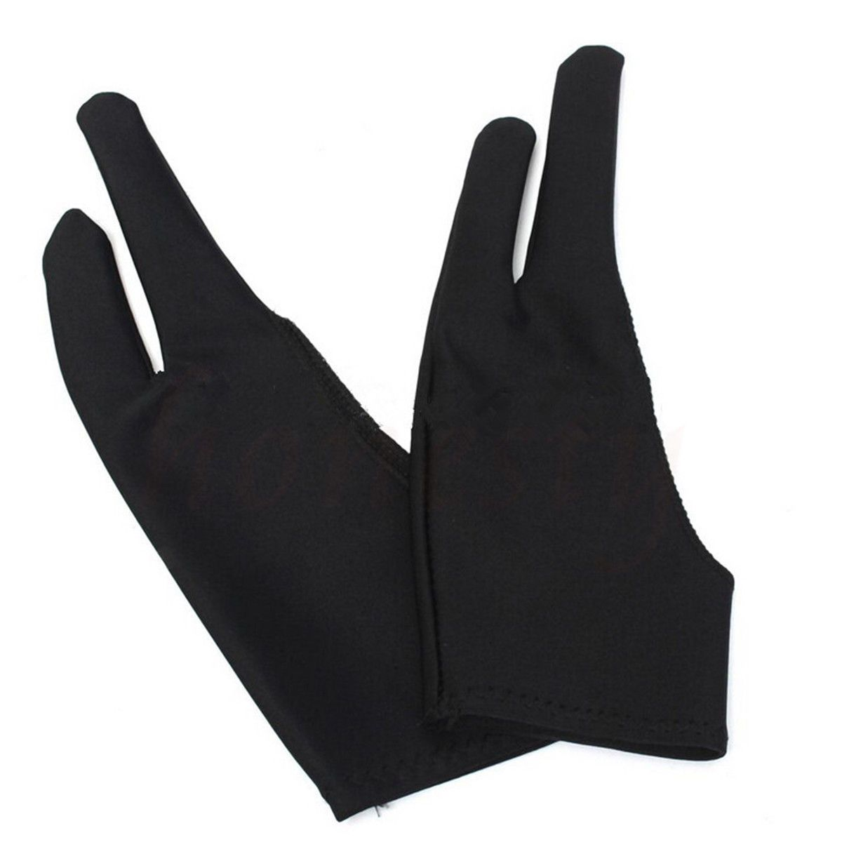Two Fingers Anti-fouling Glove Drawing /& Pen Graphic Tablet Pad For Artist Black