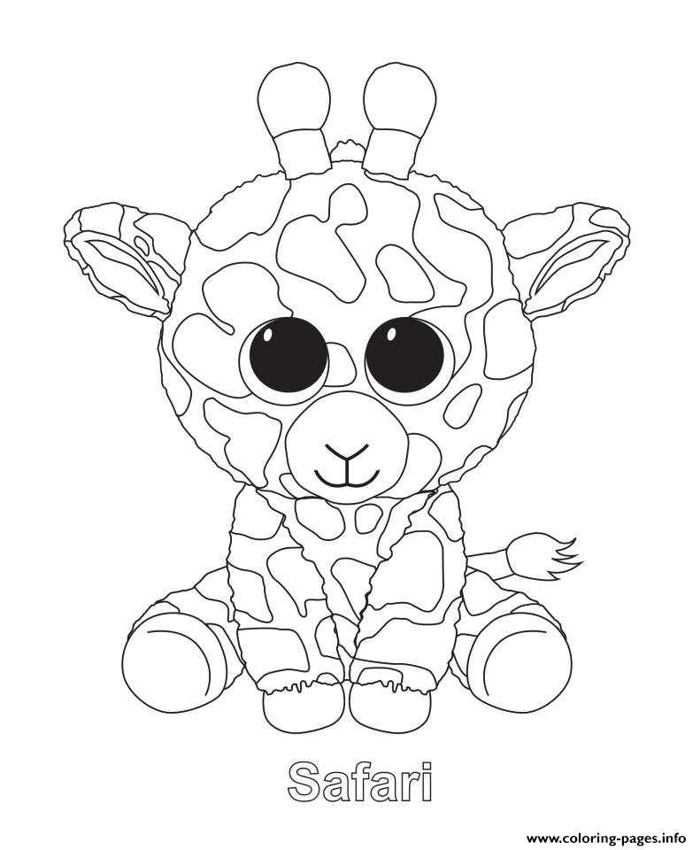 - Print Safari Beanie Boo Coloring Pages Beanie Boo Birthdays, Cat Coloring  Page, Animal Coloring Pages