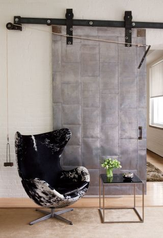 The Jacobsen Egg Chair Is Covered In Cowhide By Global Leathers; The  Steel Clad Fire Door And Its Counterweight Pulley System Reflect The  Buildingu0027s ...