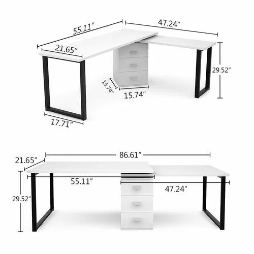 Senath Reversible L Shape Desk Di 2020 Ide Dekorasi Rumah Dekorasi Rumah Rumah