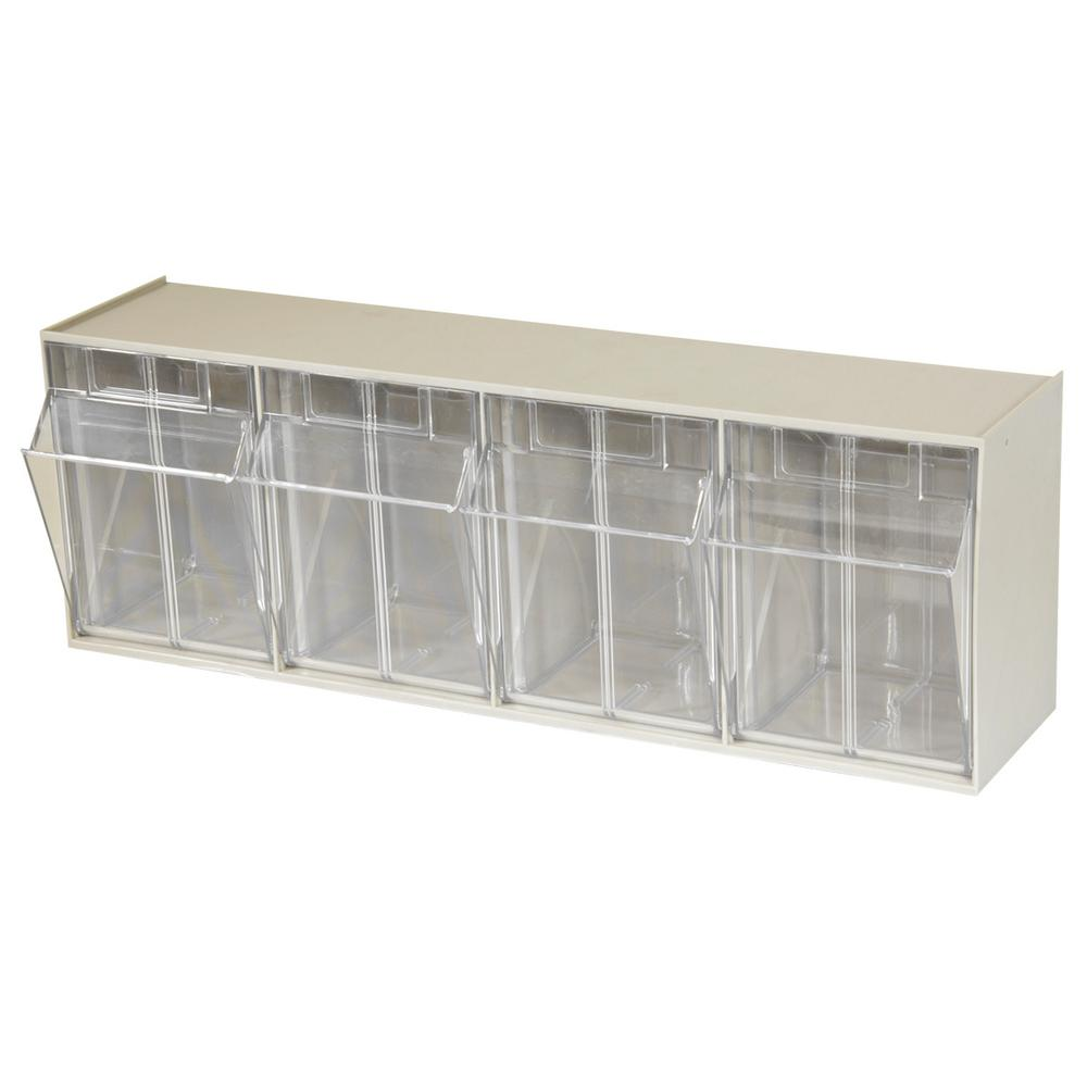 Akro Mils Tiltview Cabinet 4 Compartment 25 Lb Capacity Small