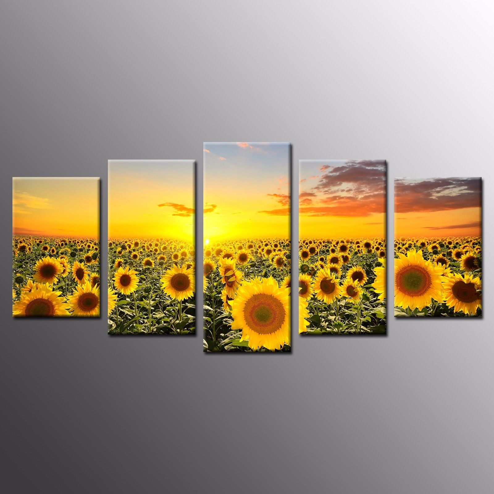 Hd Canvas Wall Art Home Decor Sunflower Canvas Prints Oil Painting ...