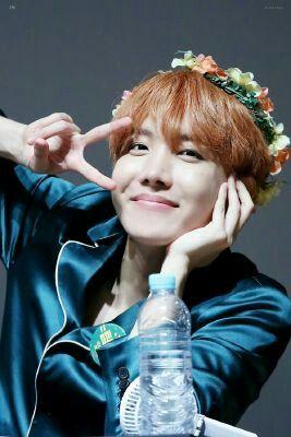 He Is So Cute Wearing A Flower Crown 😍😍😍 Bts J Hope