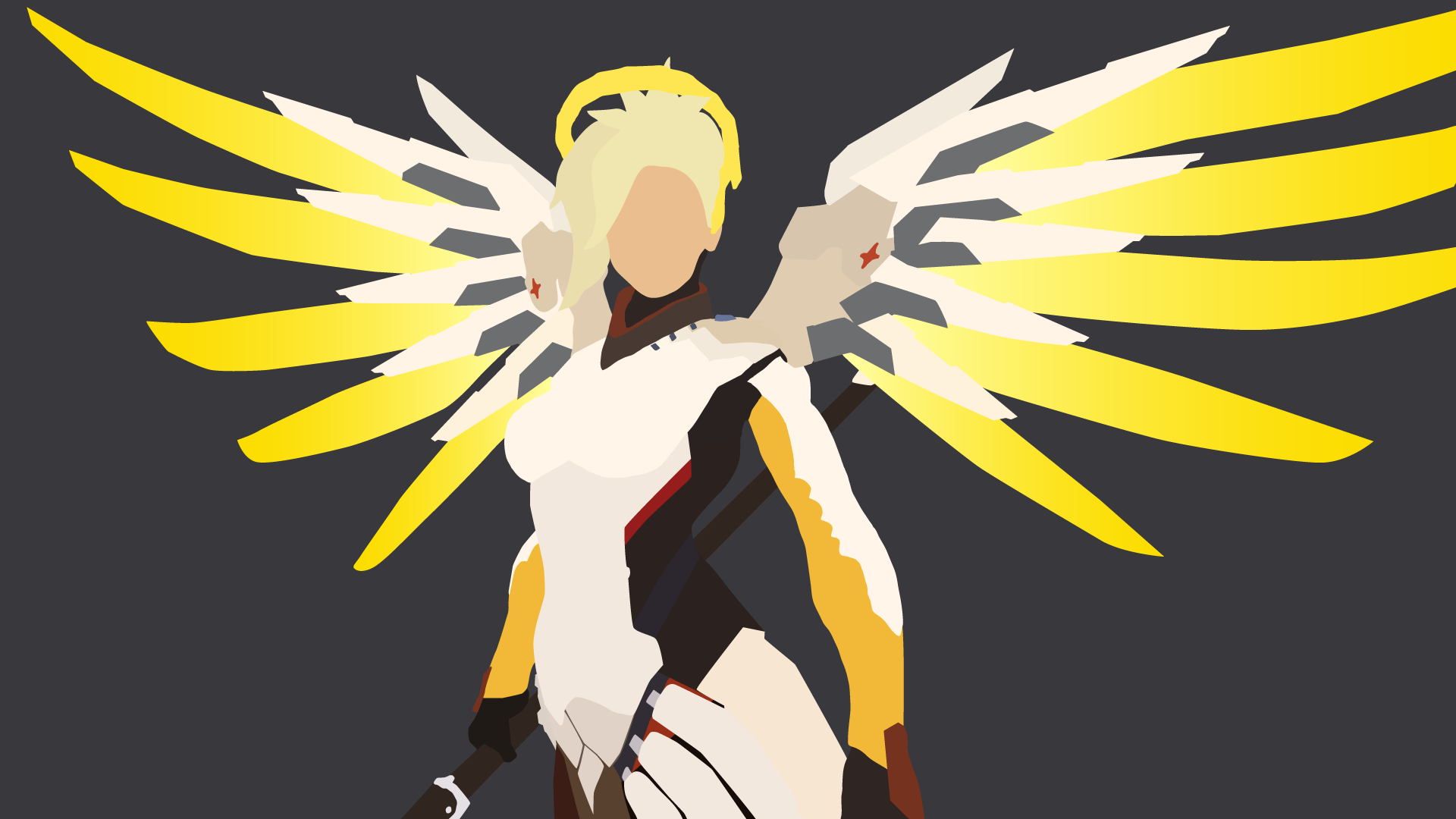 Mercy from Overwatch vector art (With images) Mercy