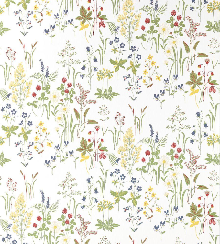 Sandberg Linnea Flora 553 01 01 Jpg 900 1 000 Pixels Flora Design Flora Wallpaper Accent Wall