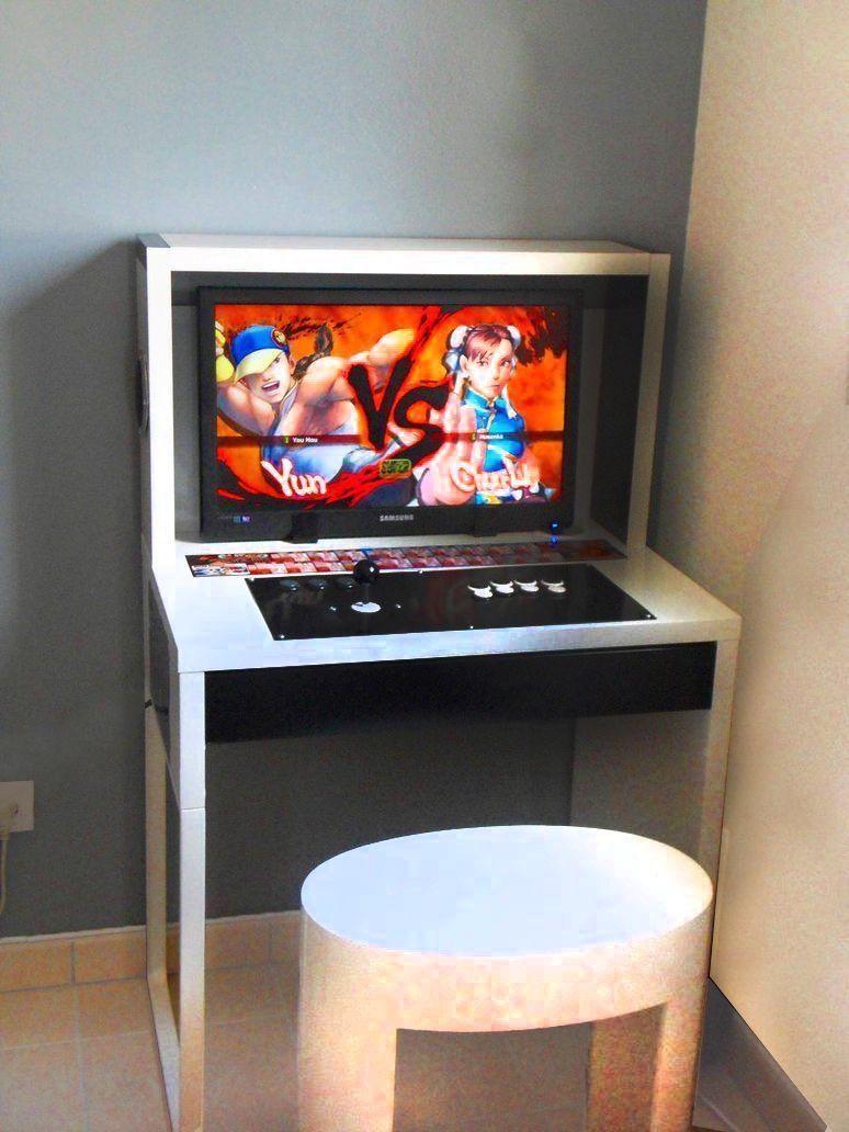 Diy Arcade Cabinets Just Add Ikea Furniture Ikea Desk Arcade  # Muebles Customizados De Ikea