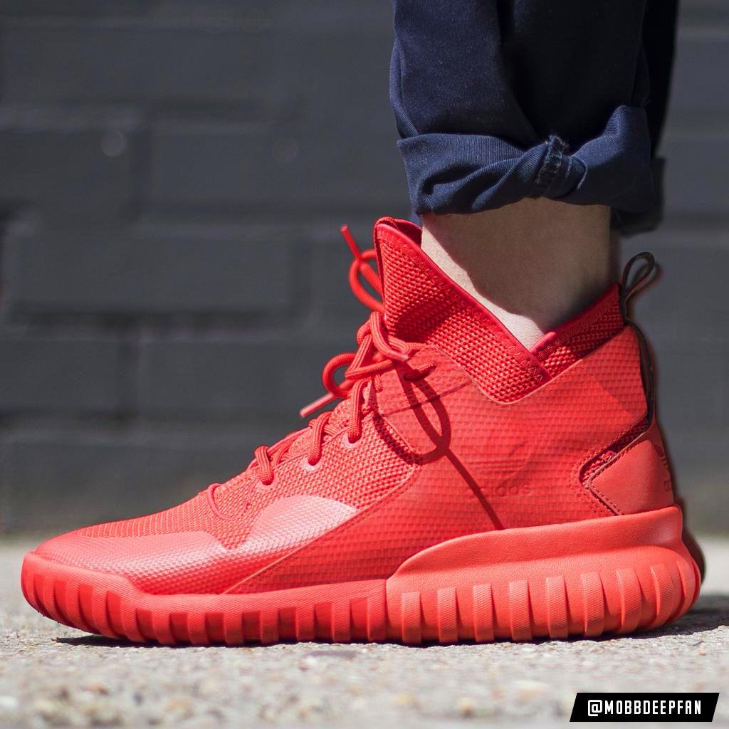 zapatillas adidas rojas con caña
