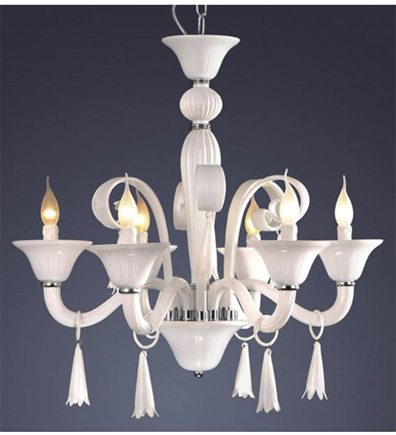 Elegant and simple white murano glass style chandelier murano elegant and simple white murano glass style chandelier aloadofball Choice Image