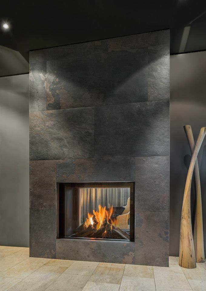 love it Moderno Pinterest Salón y Moderno - tipos de chimeneas
