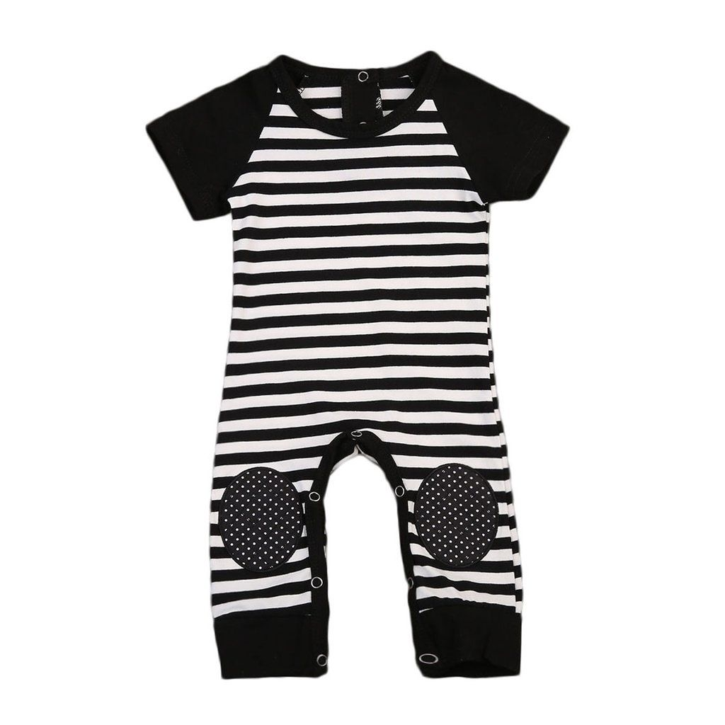 f7ad9505b8f Striped short sleeve jumpsuit Unisex design Classic black and white colors Soft  cotton material Free Worldwide Delivery   Money Back Guarantee!