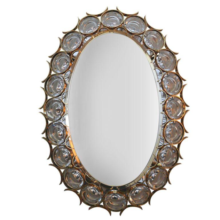 1stdibs | Sciolari Oval Backlit Mirror