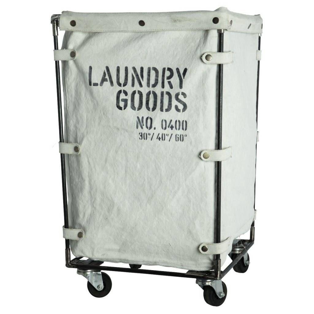 Cooler Wäschekorb Trolley mit robusten Leinwandstoff Korb. Dieser ...