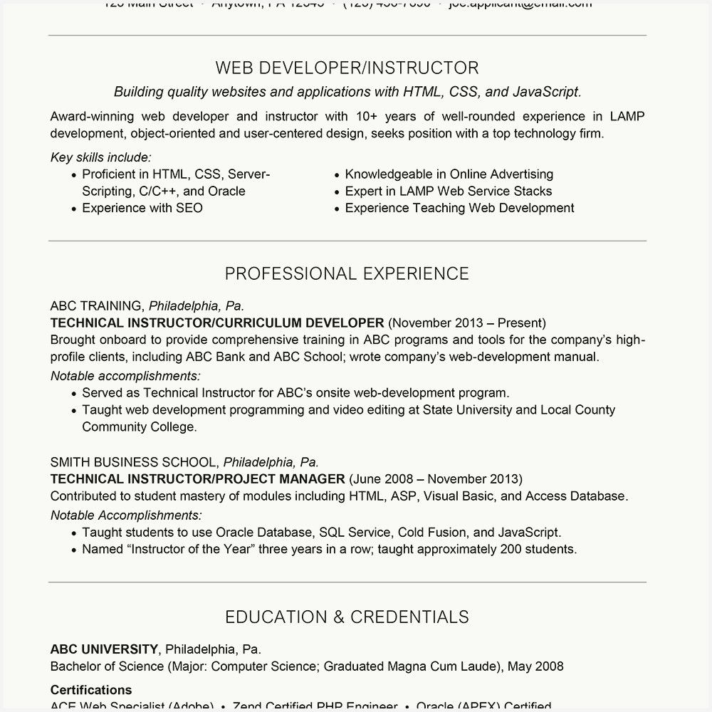 53 inspirational entry level web developer resume gallery good opening statement for cv sample mba freshers pdf marketing intern