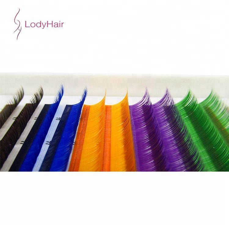 55816d313bb Wholesale Color Eyelash, Premium Colorful Silk Eyelash Extensions, Private  Label Beautiful Color Individual Eyelash