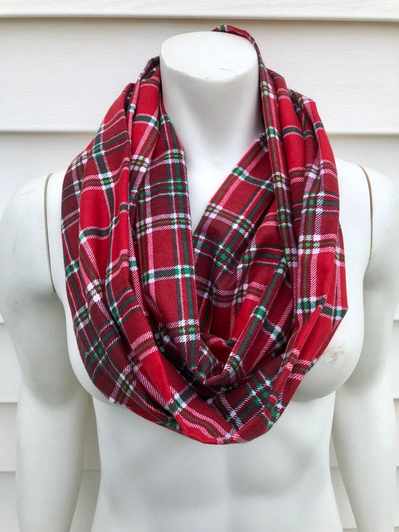 make sure you come check out my holiday scarf collection they make the perfect holiday accessories these super cute plaid christmas infinity scarves are