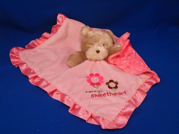 Photo of Carters Tan Bear MOMMYS SWEETHEART Pink Blankie