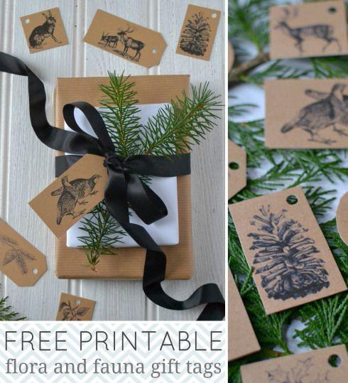 Día de fiesta ETIQUETAS del regalo imprimibles gratis de Notebook de Decorador