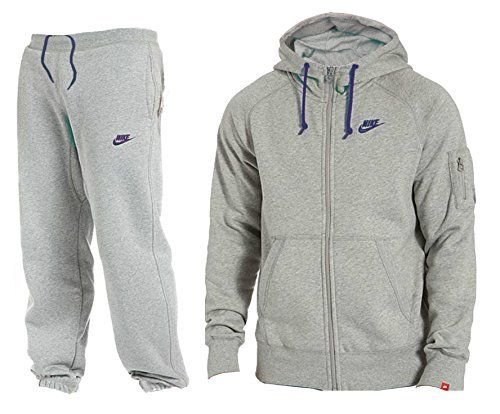 fde1e4ea17 Nike Mens Foundation 2 Full Tracksuit Hooded Fleece Top  amp  Bottoms RRP  £70