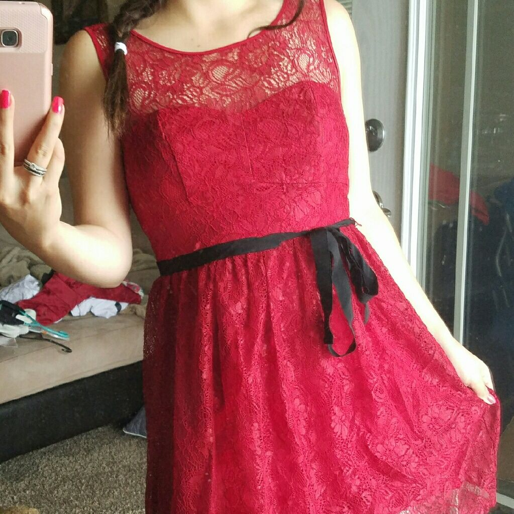 Red lace dress products