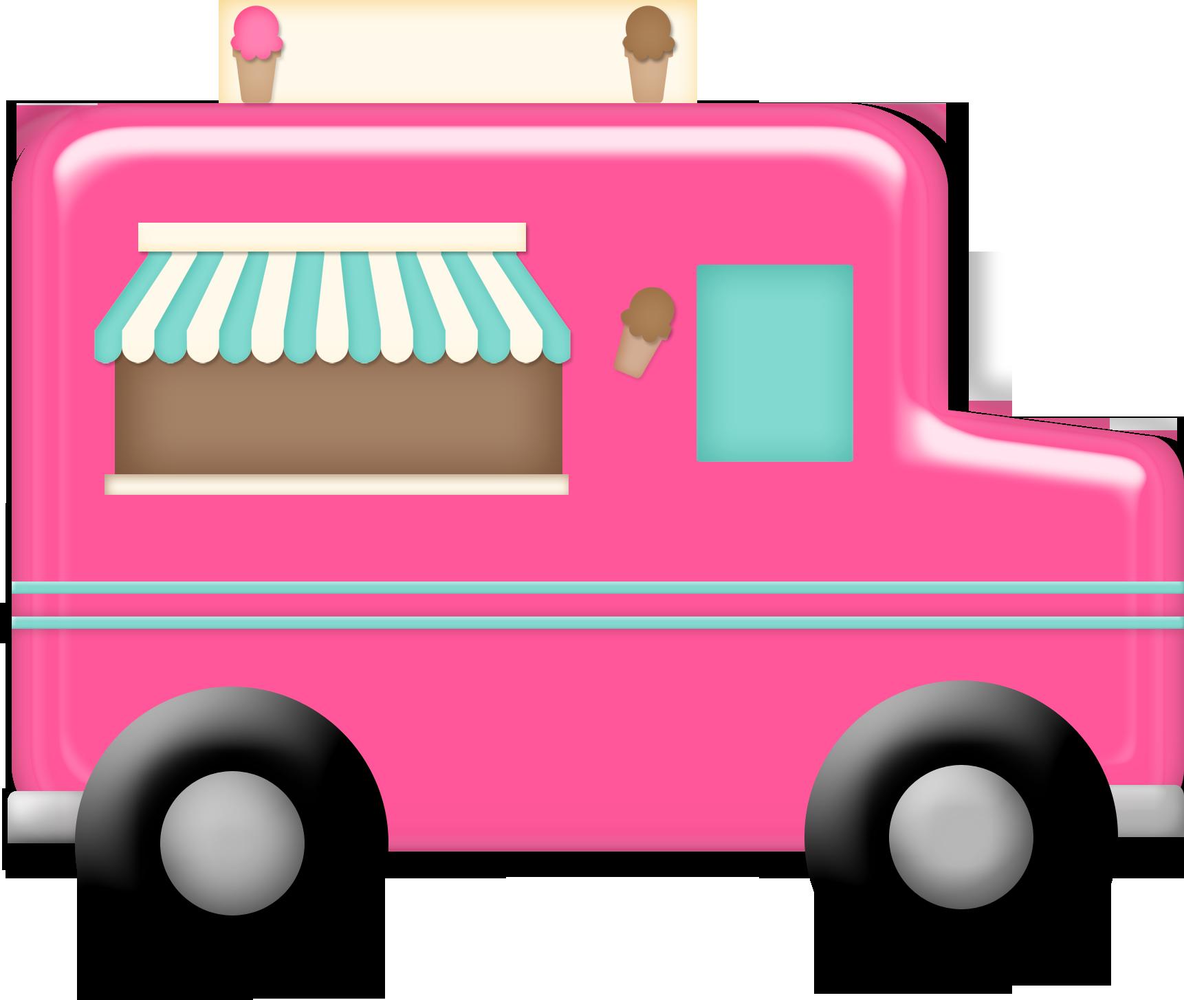 Ice Cream Truck Dessin Infographie