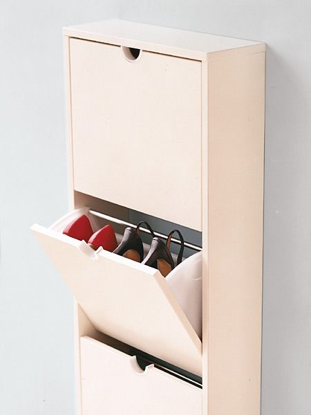 Merveilleux Wall Mounted Shoe Cabinet. The Interior Compartments Can Be Removed And  Cleaned. I Need This!