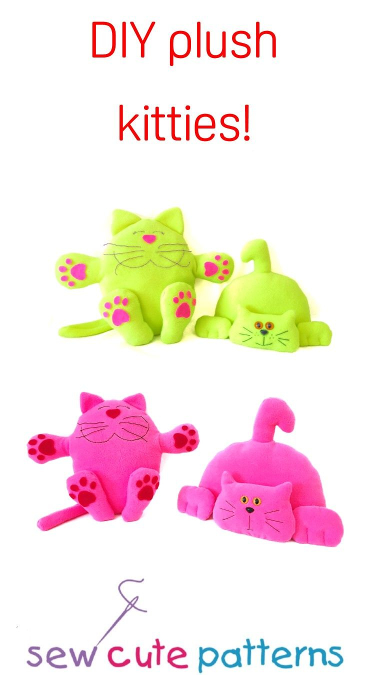 Cute cat sewing patterns to make your own customized plush kitties ...