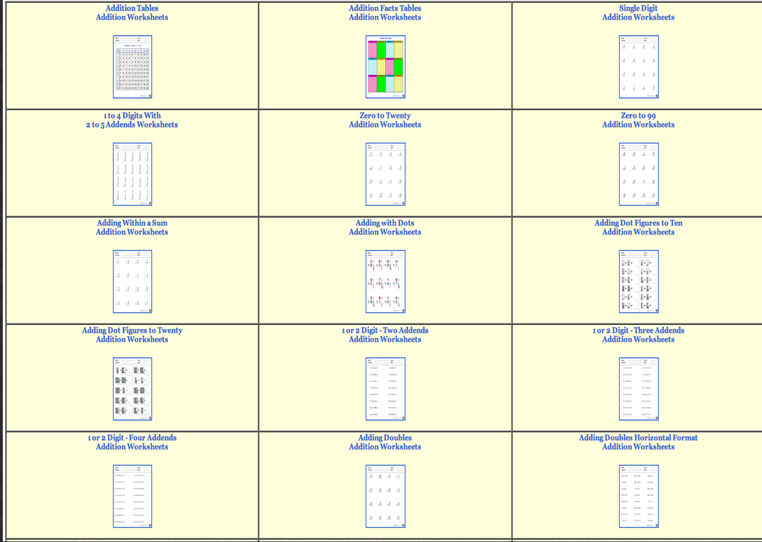 Over 800 Free Dynamic Math Worksheets For Teachers