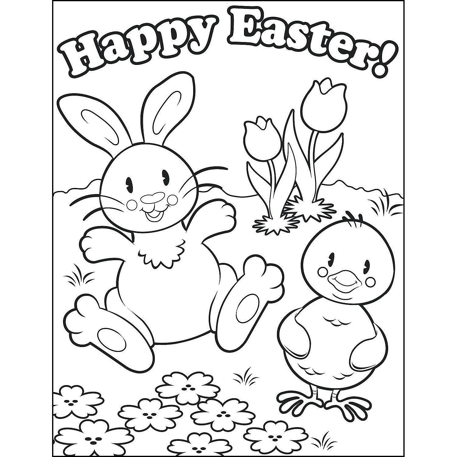 Happy Easter Coloring Pages Images Easter Easter