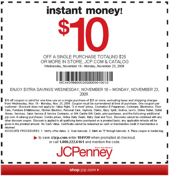jcp 20 off coupon code