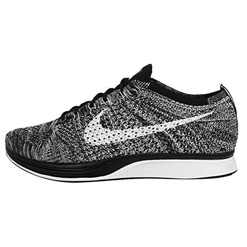 amazon mens nike flyknit racer oreo running shoes 526628 012 running
