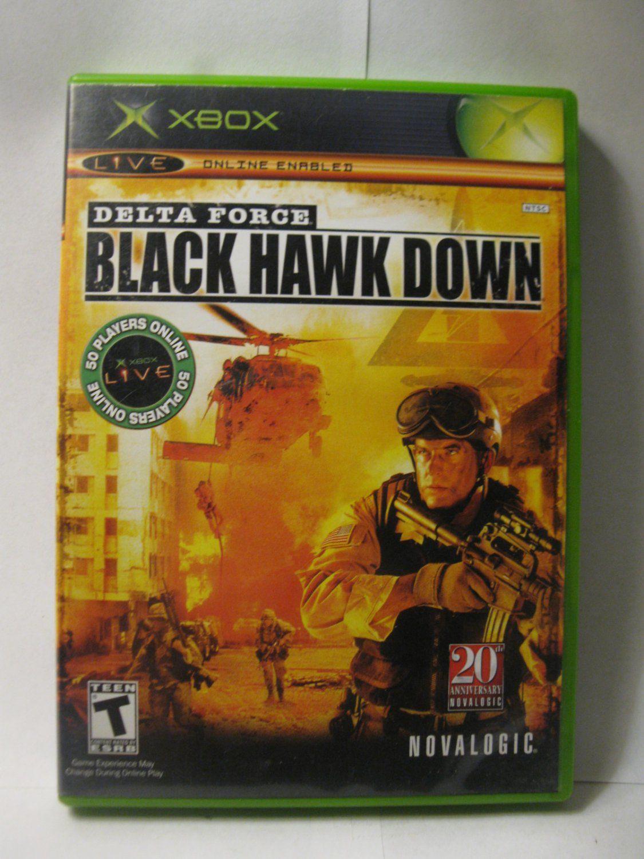 Originalxboxvideogamedeltaforceblackhawkdown in
