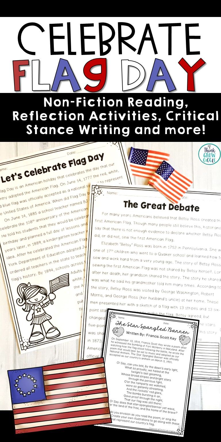 Celebrate Flag Day With Your Students With These Ideas And Printables That Will Tie Together La Close Reading Strategies Nonfiction Reading Passages Activities [ 1536 x 768 Pixel ]