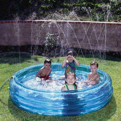 Kid S Blue Inflatable Fountain Kiddie Swimming Pool Pool