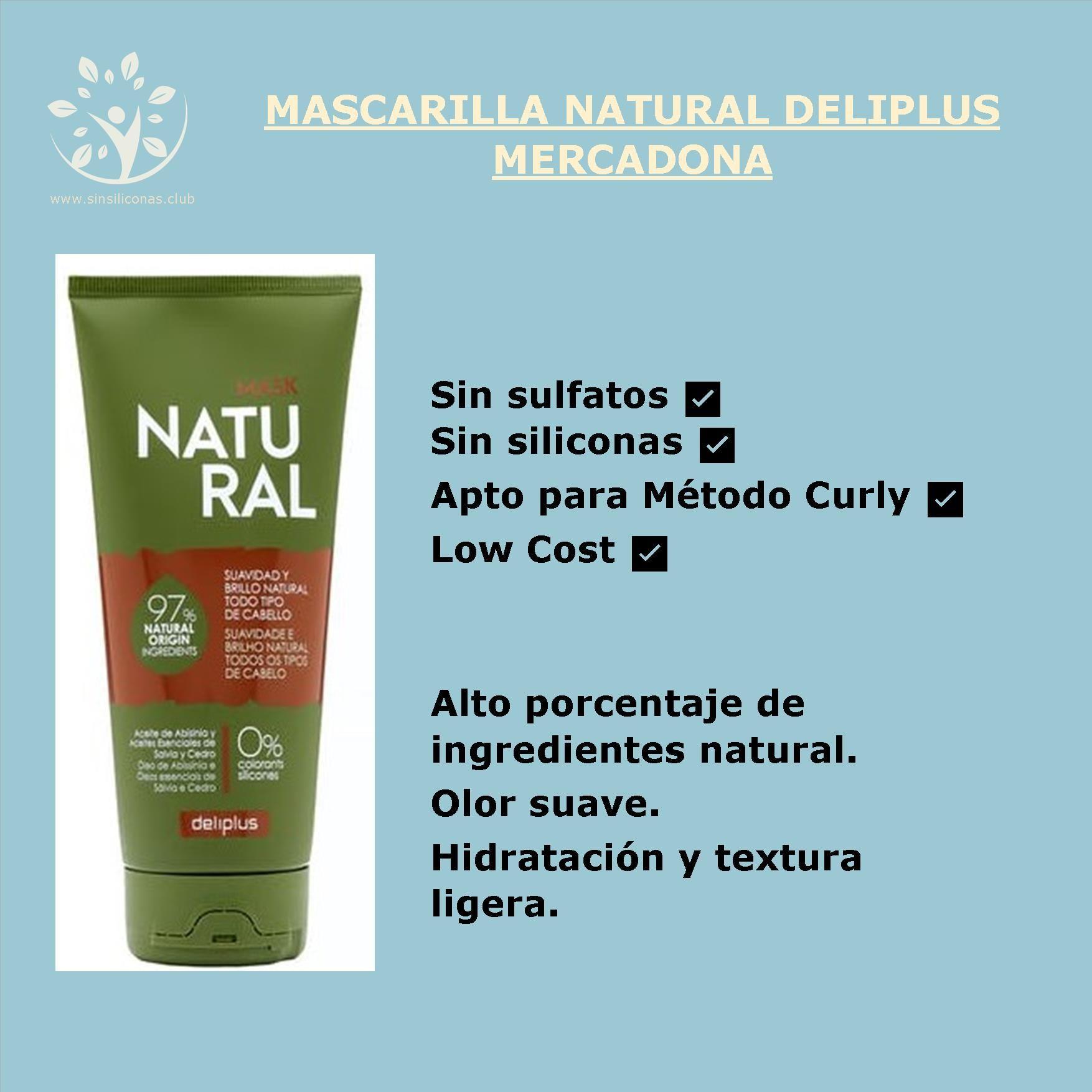 Review Mascarilla Natural Deliplus Mascarillas Naturales Champú Natural Deliplus Mercadona