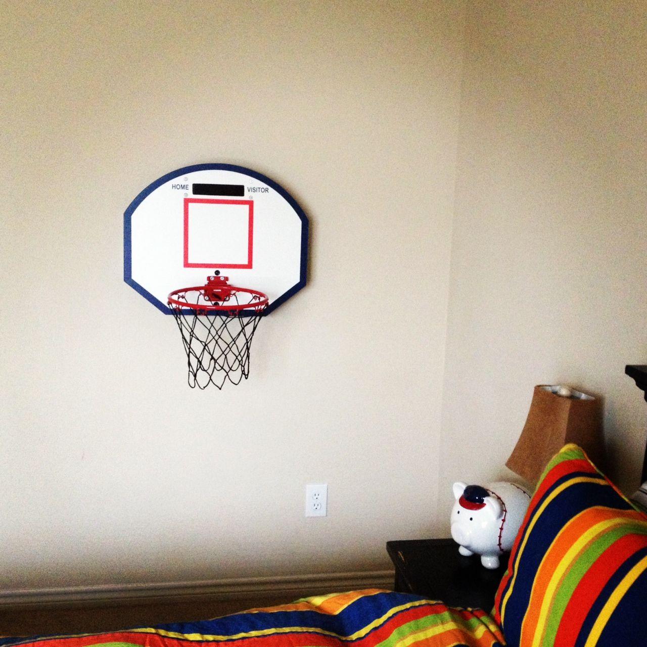 A hoop in my room caelainns bedroom indoor basketball - Indoor basketball hoop for bedroom ...